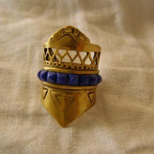 A Peace Treaty lapis Ring NEW Size 7